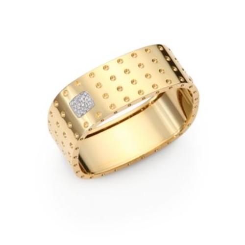 Pois Moi Diamond & 18K Yellow Gold Four-Row Bangle Bracelet