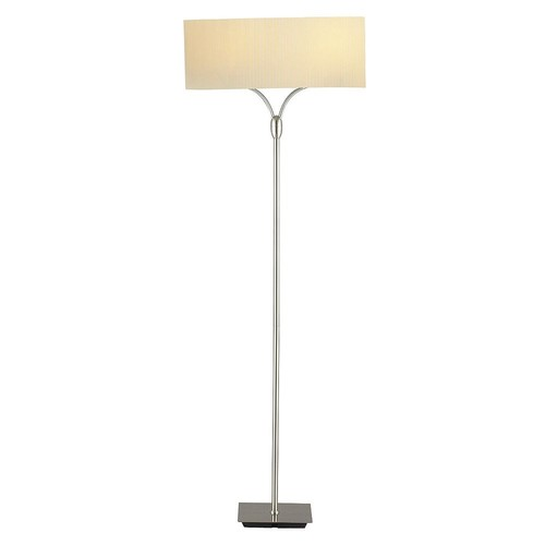 Adesso 3445-22 Wishbone Floor Lamp, 2 x 100 W, Satin Steel