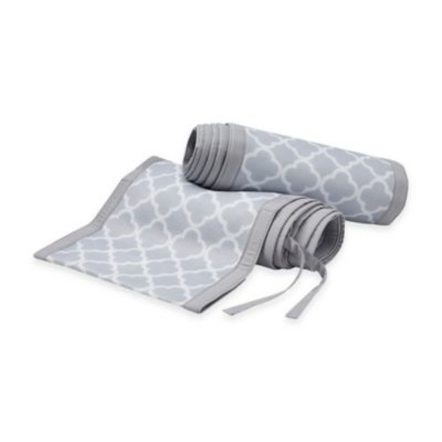 BreathableBaby Breathable Mesh Crib Liner in Grey Clover