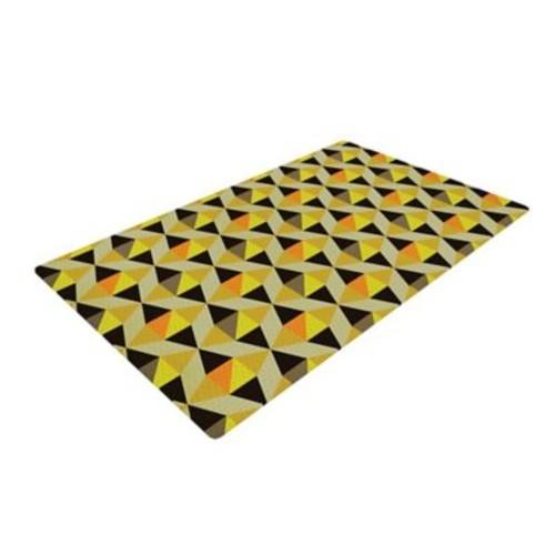 East Urban Home Louise Machado Onyx Yellow/Black Area Rug; 2' x 3'