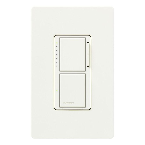 Lutron MA-L3S25-BI Maestro 300-Watt Single-Pole Digital Dimmer and 2.5 Amp On/Off Switch, Biscuit