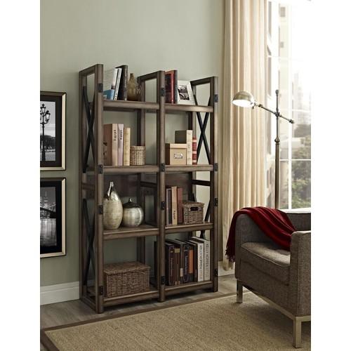 Dorel Wildwood Rustic Gray Bookcase / Room Divider
