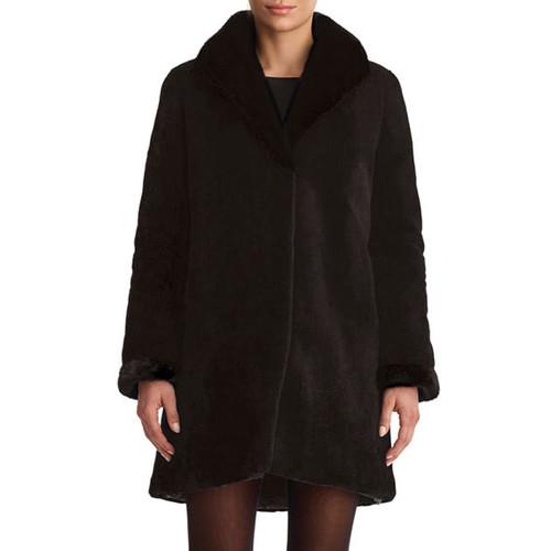 Sheared Mink Reversible Stroller Coat