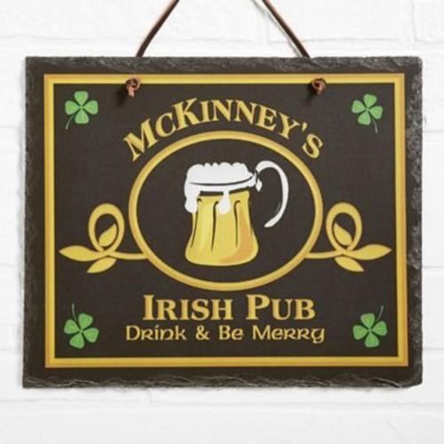 Irish Pub Horizontal Slate Sign