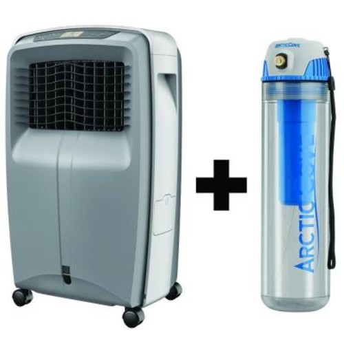 Arctic Cove 500 CFM 3-Speed Portable Evaporative Cooler with Free Cordless 4-Volt 16 oz. Personal Mister