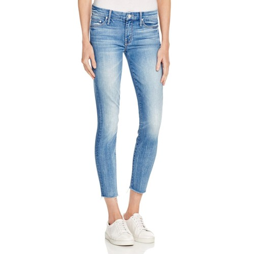 MOTHER The Looker Ankle Fray Jeans In Birds Of Paradise