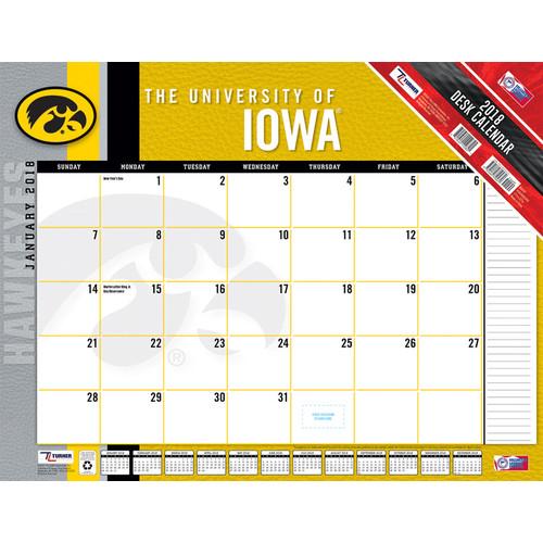 Turner 2018 Iowa Hawkeyes Desk Calendar