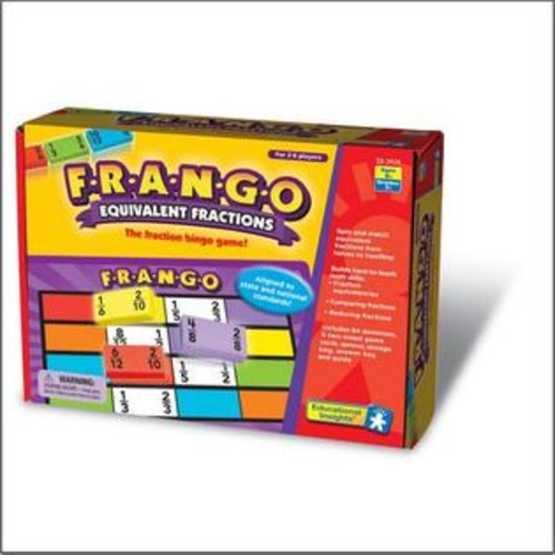 Educational Insights Frango Equivalent Fractions Game
