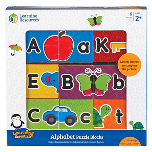Learning Resources Alphabet Puzzle Blocks - Skill Learning: Letter Recognition, Motor Skills, Matching, Color Identification