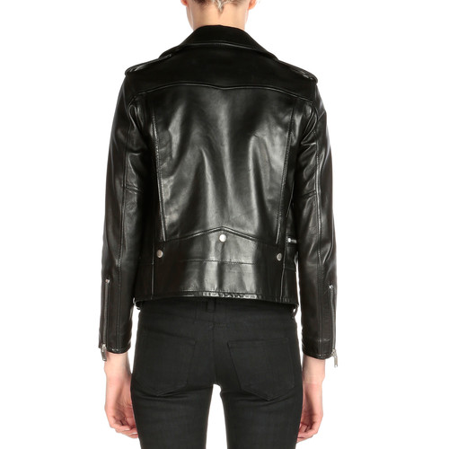 SAINT LAURENT Classic Leather Moto Jacket