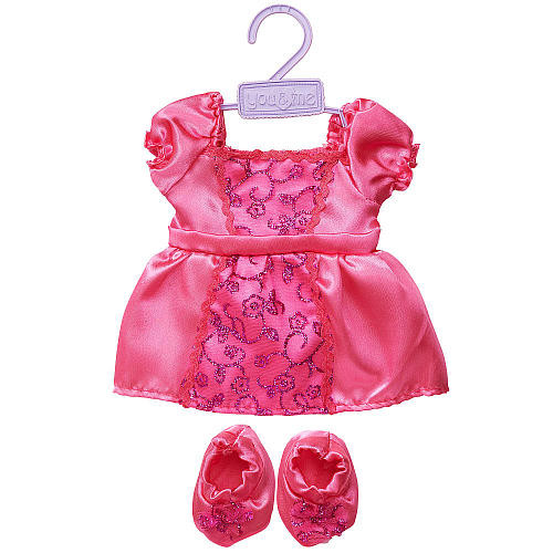 You & Me 16-18 inch Doll Outfit - Pink Filigree Dress