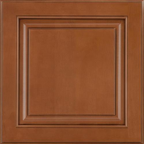 American Woodmark 14-9/16x14-1/2 in. Cabinet Door Sample in Portola Maple Auburn Glaze