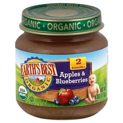 Earth's Best Organic Apples & Blueberries Baby Food, 4 oz. (12 Count)