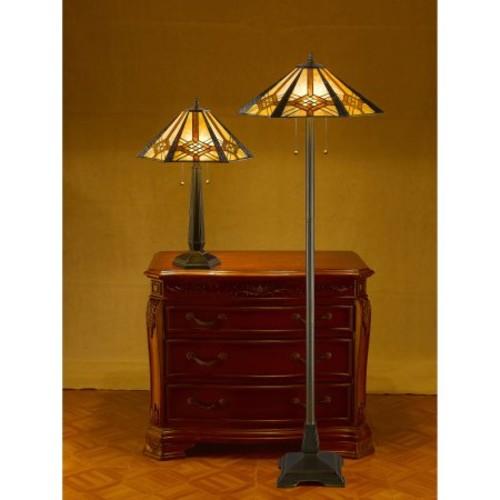 Serena d'italia Hex Mission Table and Floor Lamp Set