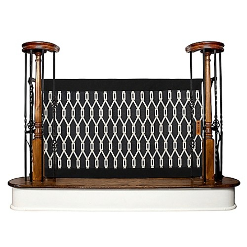 The Stair Barrier 36-Inch to 42-Inch Banister to Banister Indoor/Outdoor Gate in Onyx