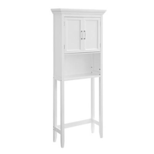 Simpli Home Avington 10-Inch Space Saver Cabinet in White
