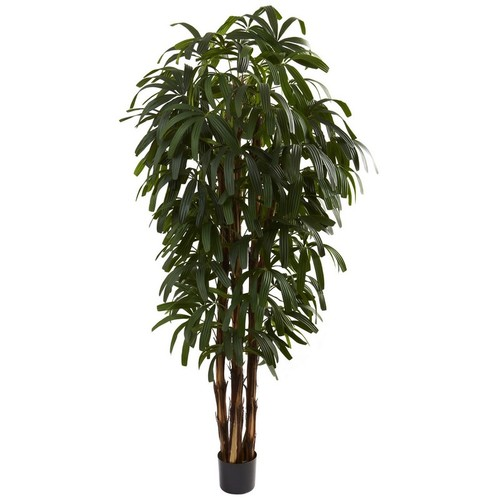 Nearly Natural Raphis Palm Tree 6-Feet Green 5404