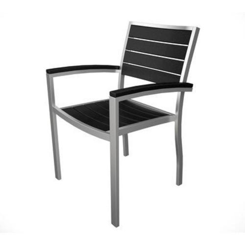 Euro Arm Lounge Chair Finish: Silver & Black