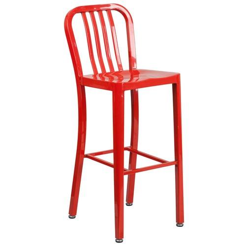 Flash Furniture 30.25 in. Red Bar Stool