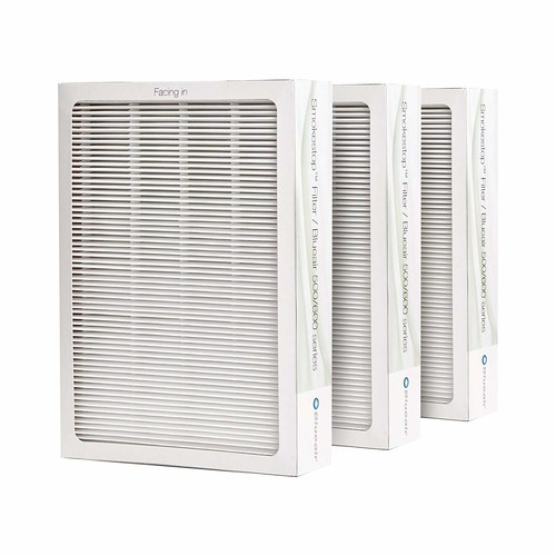 Blueair Smokestop Filter for Blueair 500/600 Series Air Purifiers, Set of 3 [SmokeStop Filter: Particle & VOC Removing]