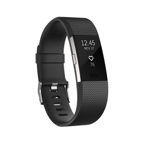 Fitbit Charge 2 Heart Rate and Fitness Wristband [Black : Black]