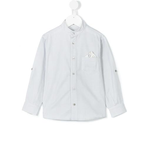 Pocket square mandarin shirt