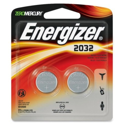 Energizer Lithium 2032 Button Cell Battery, 2 Count