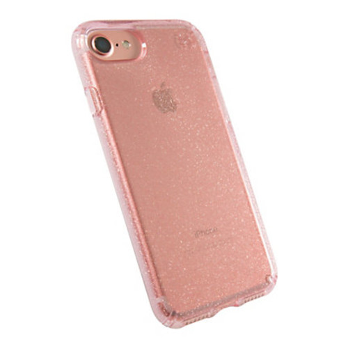 Speck Products Presidio CLEAR Hard Case For iPhone 7, Pink Rose Glitter, 79989-5978