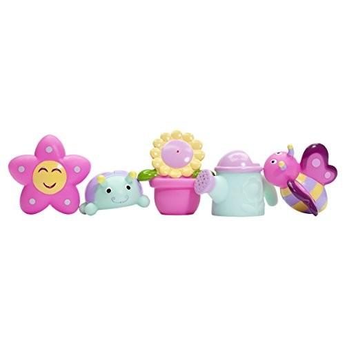 Elegant Baby Bath Time Fun Rubber Water Squirtie Toys In Vinyl Giftable Bag, Springtime [Springtime]