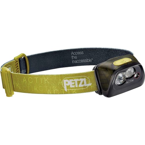 Petzl - ACTIK Headlamp, 300 Lumens, Active Lighting [GREEN-E99AAB, One Size]