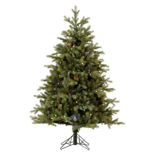 7.5' Rocky Mountain Fir LED Pre-lit Instant Artificial Christmas Tree - Multicolor Lights