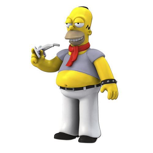 Simpsons 25th Anniversary - 5 Inch Figure - Series 5 Homer Simpson (Dressed like Lenny Kravitz)