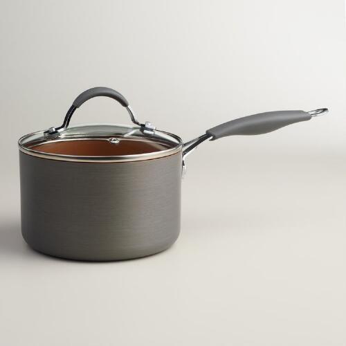 Halo Copper Nonstick Saucepan