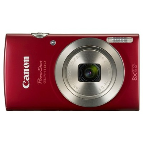 Canon PowerShot ELPH180 Camera - Red (1096C001)