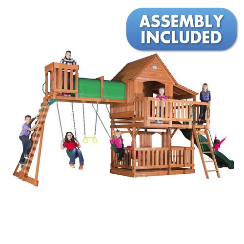 Backyard Discovery Woodridge II Cedar Swing Set - Free Delivery!