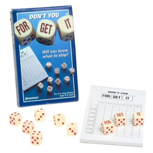 Pressman Toy Don't You Forget It Dice Game