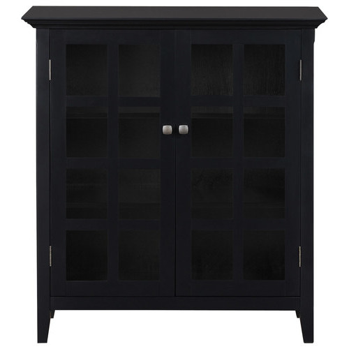 Simpli Home - Acadian 4-Shelf Storage Cabinet - Black