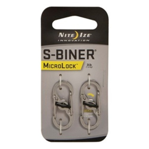 Nite Ize LSBM-11-2R3 2Pk S-Biner Micro Lock