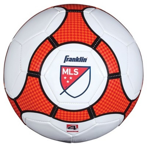 Franklin Sports MLS Pro Trainer Soccer Ball- Red (Size 4)