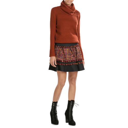 Mixed-Media Mini-Skirt