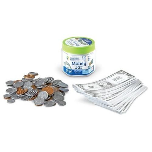 Learning Resources Money Jar, Set of 220