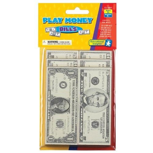 Educational Insights Play Money - Bills