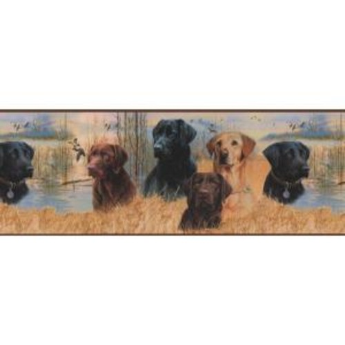 York Wallcoverings Lake Forest Lodge Working Dogs Wallpaper Border