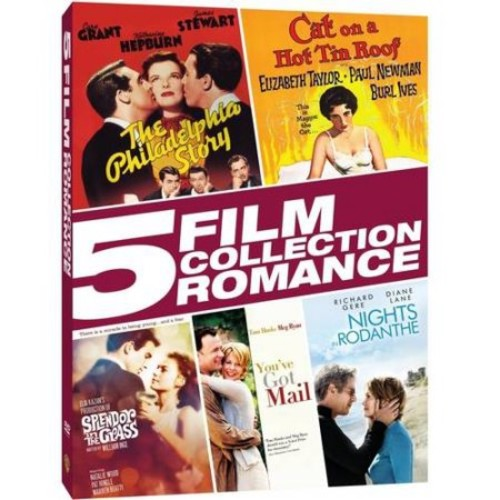 5 Film Collection: Romance - The Philadelphia Story / Cat On A Hot Tin Roof / Splendor In The Grass / You've Got Mail / Nights In Rodanthe