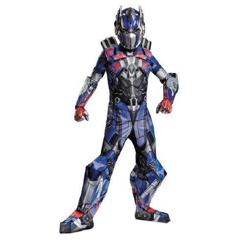 Disguise Costumes Boy's Transformers Age of Extinction Prestige Optimus Prime Kids Costume, Medium (7-8), Red/Blue
