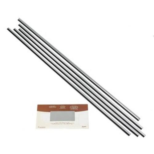 Fasade Backsplash Accessory Kit with Tape Brushed Aluminum