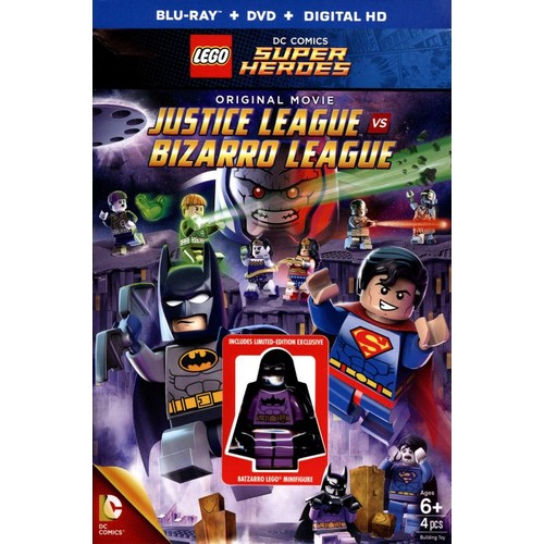 LEGO DC Comics Super Heroes: Justice League vs. Bizarro League [Blu-ray/DVD] [Figure] [2015]