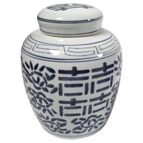 Ceramic Blue & White Ginger Jar