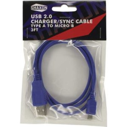 Shaxon Charge/Sync Micro USB Cable - Blue