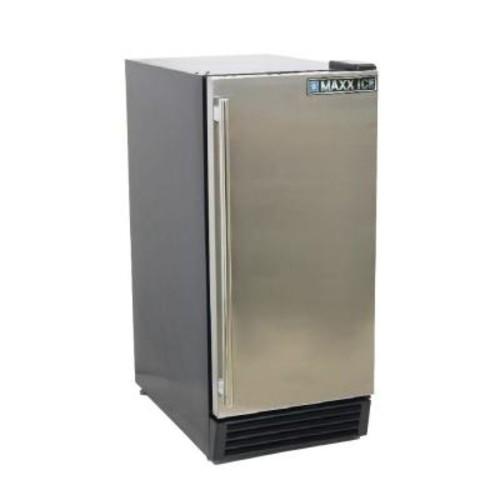 Maxx Ice 3 cu. ft. Single Door Mini Refrigerator in Black with Stainless Steel Door